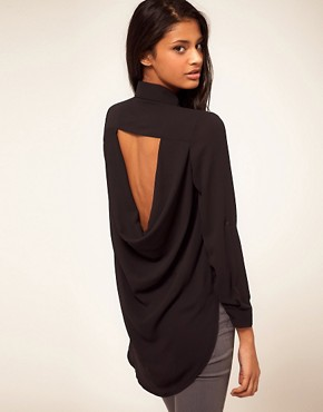Image 1 ofTFNC Drape Open Back Shirt