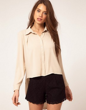 Image 2 ofTFNC Drape Open Back Shirt