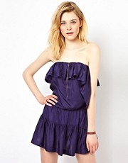 Iro Strapless Gypsy Dress with Ruffle Detail