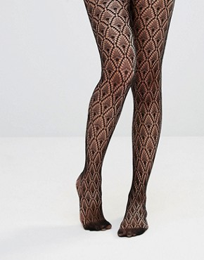 ASOS Diamond Crochet Fishnet Tights