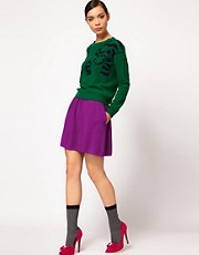Sonia by Sonia Rykiel High Waisted Full Skirt in Mixed Tones