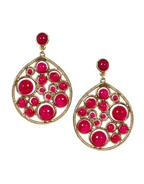 Image 1 ofNali Teardrop Earrings with Gem Detail