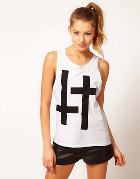 Image 1 ofHearts &amp; Bows Double Cross Boyfriend Vest