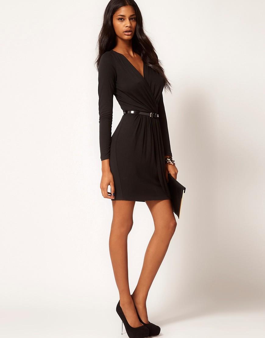 Image 4 ofASOS Wrap Dress With Belt
