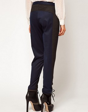 Image 2 ofASOS Trousers With Contrast Panels