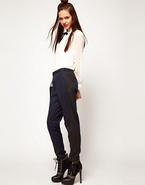 Image 1 ofASOS Trousers With Contrast Panels