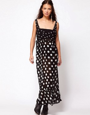 Image 1 ofOne Teaspoon Control Yourself Polka Dot Maxi Dress