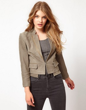 Image 1 ofUrban Code Suede Crop Jacket