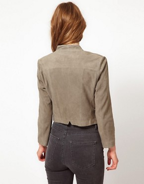 Image 2 ofUrban Code Suede Crop Jacket