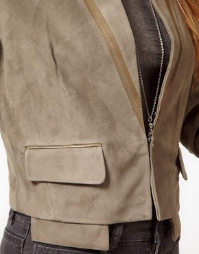 Image 3 ofUrban Code Suede Crop Jacket