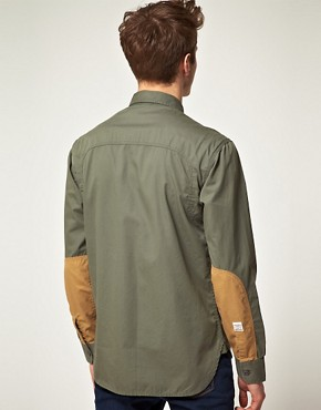 Image 2 ofJack and Jones Vintage Long Sleeve Union Army Shirt
