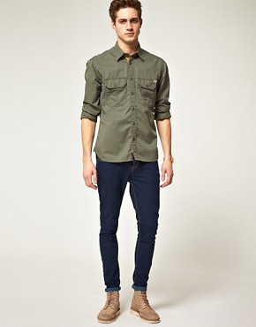 Image 4 ofJack and Jones Vintage Long Sleeve Union Army Shirt
