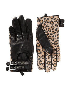Image 1 ofMaison Scotch Leopard Gloves