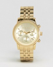 Michael Kors Gold &amp; Crystal Chronograph Watch