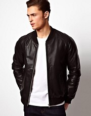 ASOS - Bomber in pelle