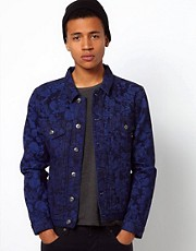Bellfield Denim Jacket With Floral Print