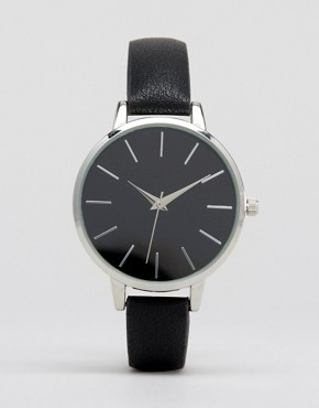 ASOS Sleek Black Dial Watch
