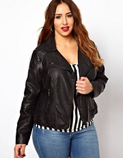New Look Inspire Poppy Leather Look Jacket