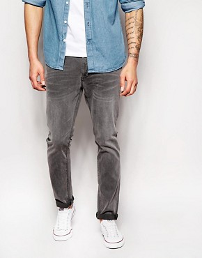 Only & Sons Washed Grey Jeans in Slim Fit