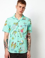 Vans Shirt Hawaiian Camp Print Slim Short Sleeve