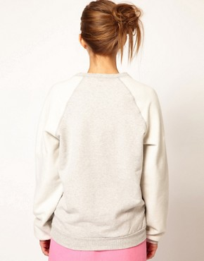 Image 2 ofPeter Jensen Reverse Sweatshirt with Bunny Applique Logo