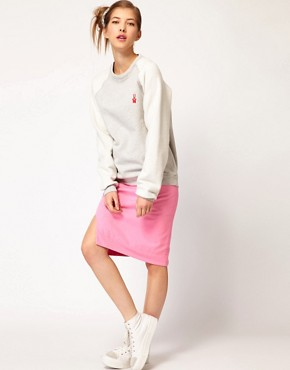 Image 4 ofPeter Jensen Reverse Sweatshirt with Bunny Applique Logo