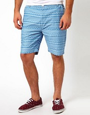 Bellfield Aztec Print Shorts