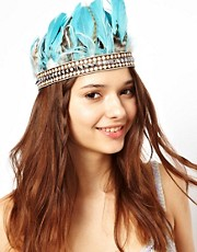 River Island Feather Head Band