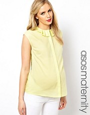 ASOS Maternity Blouse With Origami Collar