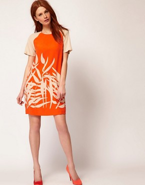 Image 4 ofWhistles Palm Print Shift Dress