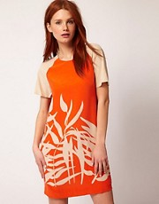 Whistles Palm Print Shift Dress