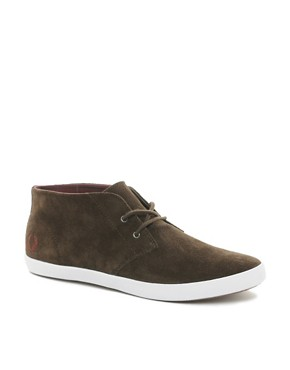 Image 1 ofFred Perry Byron Mid Suede Chukka Boots