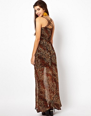 Image 2 ofLucca Couture Leopard Print Maxi Dress