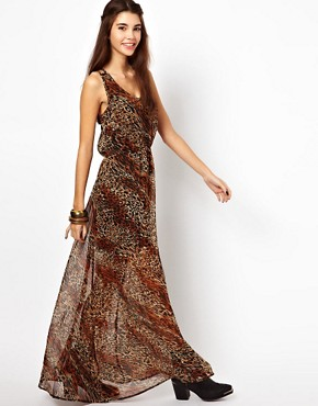 Image 1 ofLucca Couture Leopard Print Maxi Dress