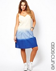 ASOS CURVE Exclusive Sundress In Dip Dye