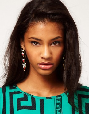 Image 2 ofASOS Aztec Triangle Drop Earrings