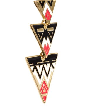 Image 3 ofASOS Aztec Triangle Drop Earrings