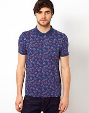 ASOS Polo With Palm Tree Print