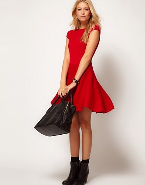 Image 4 ofOasis Fit &amp; Flare Knit Dress