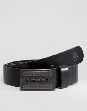 G-Star Daber Leather Belt In Black