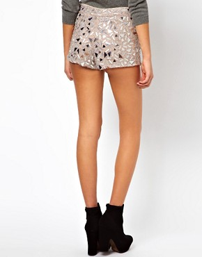Image 2 ofASOS PETITE Exclusive Embellished Shorts