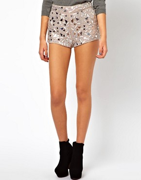 Image 4 ofASOS PETITE Exclusive Embellished Shorts