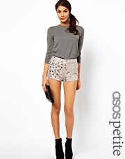 ASOS PETITE Exclusive Embellished Shorts