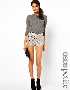 Image 1 ofASOS PETITE Exclusive Embellished Shorts