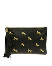 ASOS Multi Zip Horse Clutch