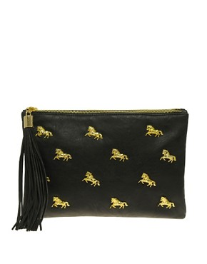 Image 1 ofASOS Multi Zip Horse Clutch