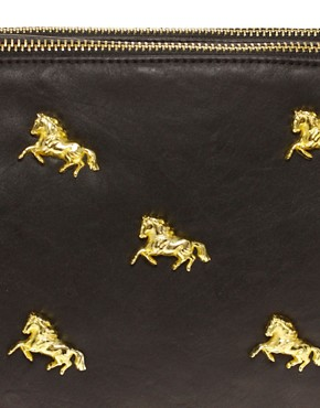 Image 4 ofASOS Multi Zip Horse Clutch
