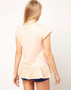 Image 2 of ASOS T-Shirt with Peplum