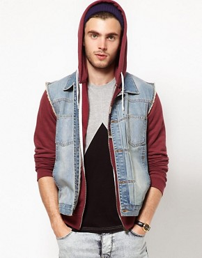 Image 1 of ASOS Sleeveless Denim Jacket