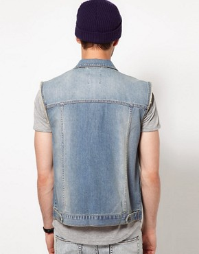 Image 2 of ASOS Sleeveless Denim Jacket